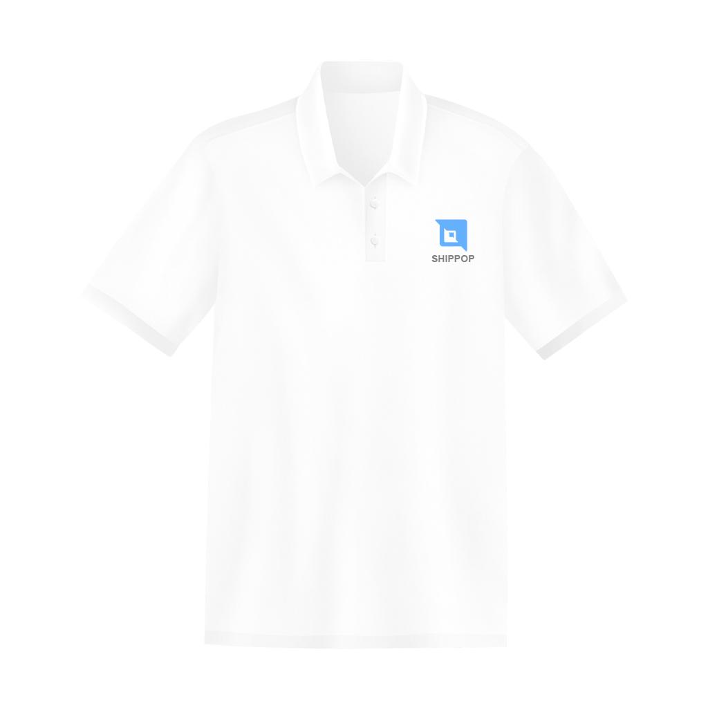 เสื้อ shippop คอปก ไซส์ xl สีขาว (ญ)